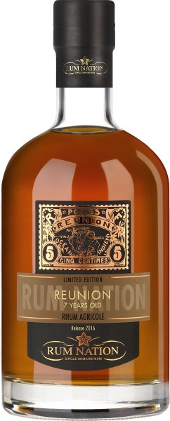 Rum Nation Reunion 7 Jahre, 45% Vol. 0,7 ltr.
