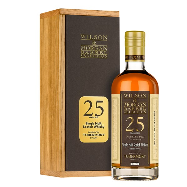 W&M Tobermory 25 Jahre (1994-2019) Sherry Wood, 55% 0,7 ltr.