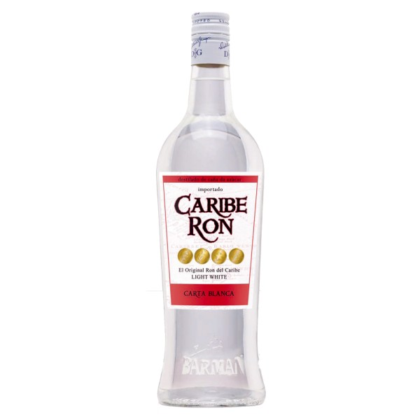 Caribe Ron Carta Blanca, 38% Vol. 1,0 ltr.